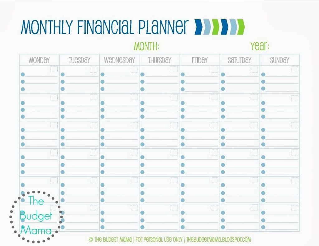 Monthly Financial Planning Finance Spreadshee Budget