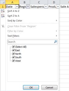 Excel Tip Filter Data