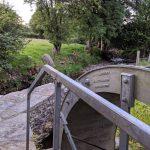 Waterwheel and riverbank
