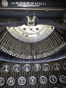 Underwood typewriter close up