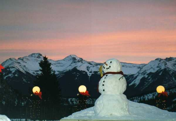 Snowman in Rockies Copyright Shelagh Donnelly