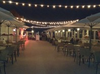 The deck by night