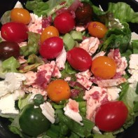 Salad w viniagrette, cherry tomatoes Copyright Shelagh Donnelly