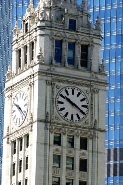Chicago Wrigley Clock1650 Copyright Shelagh Donnelly