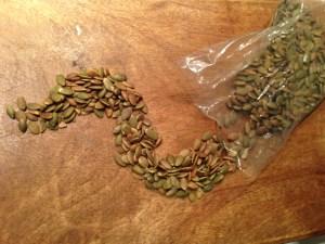 Roastd Pumpkin Seeds Copyright Shelagh Donnelly