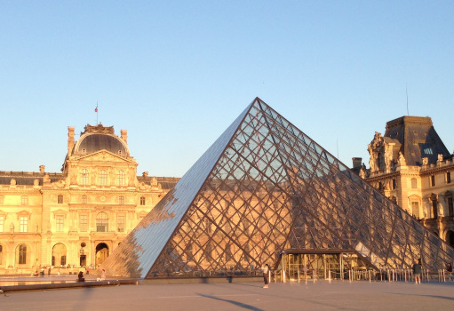 Sunset Louvre Copyright Shelagh Donnelly