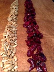 Dried Cranberries, Sunflower Seeds