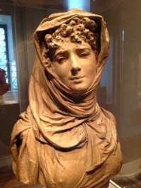 Albert-Ernest Carrier-Belleuse, Fantasy Bust of a Veiled Woman Copyright SD