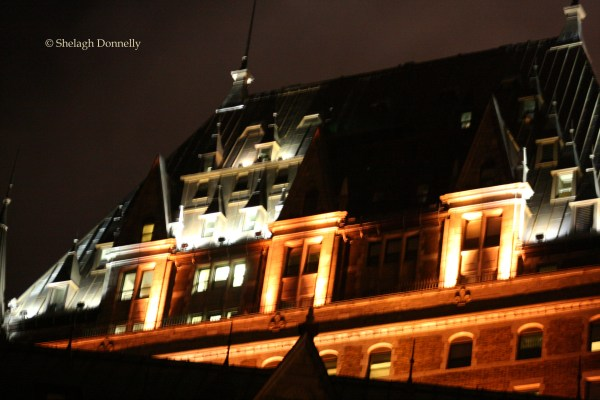 Fairmont Chateau Frontenac by Night 0548 Copyright Shelagh Donnelly