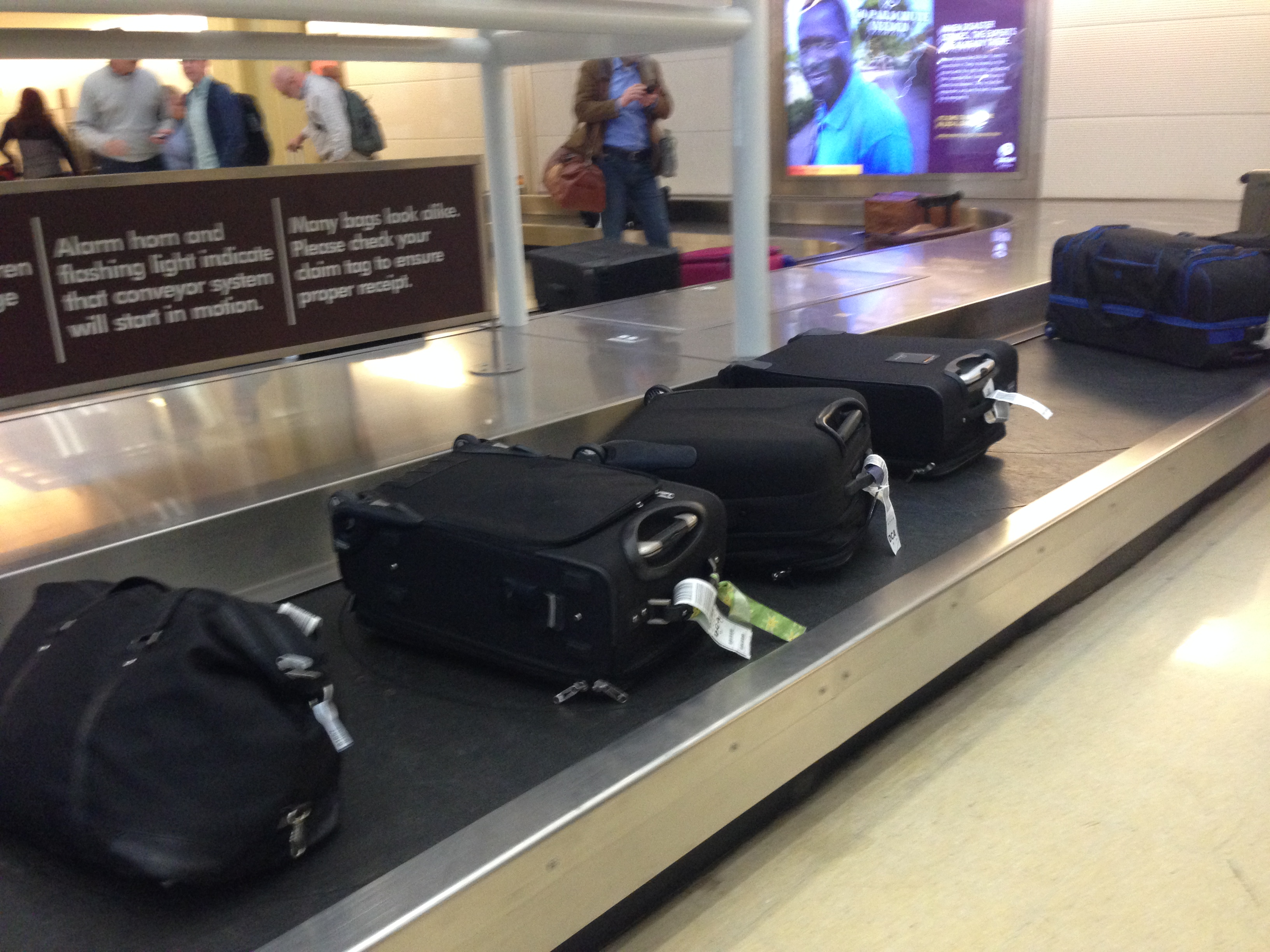Luggage on Conveyor Belt Copyright Shelagh Donnelly