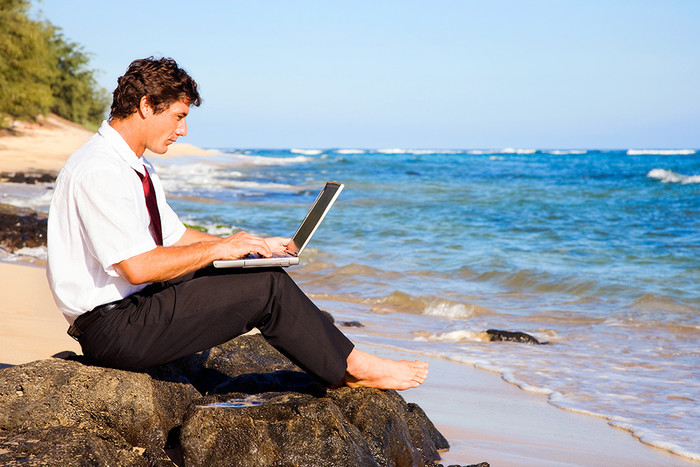 Working Remotely - Male