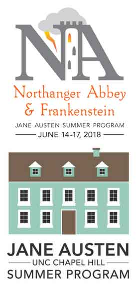 Image of the ad for Jane Austen Summer Program 2018