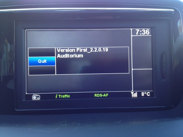 Headunit Firmware Version