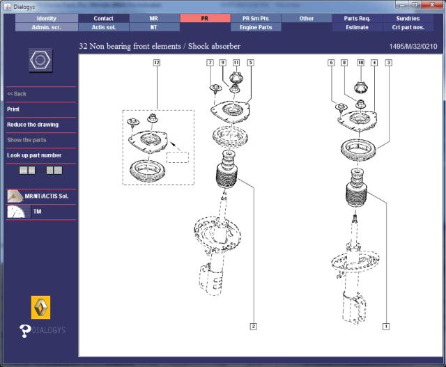 Renault Megane Gt220 Front Suspension Parts Diagrams 2 Excesstext
