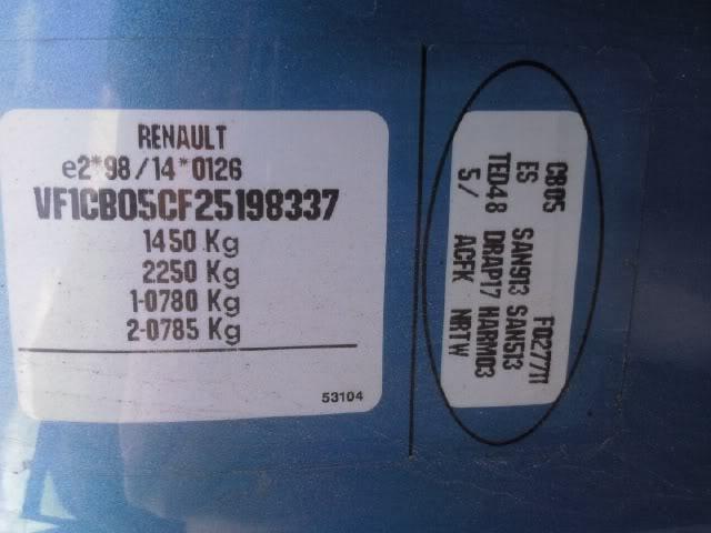 renault oval plate decoding general information. Black Bedroom Furniture Sets. Home Design Ideas
