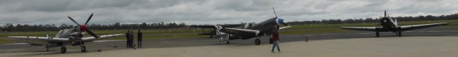 Warbirds on the apron