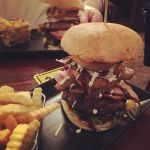 #Bushmans #Burger from the @pjoreillystuggeranong #SpecialsBoard.  A photo doesn't do justice to this #tower of #Beef #Sausage #Bacon #Hashbrowns #OnionRings #Salad - it was taller than the nearest #vegan  #BurgerPorn #Foodporn #InstaBurger #InstaGood #Instafoodie #Instafood #InstaBurger #BurgerGram #meaty #Pubgrub #PubFood #GoodEats #Dinner #Food #Foodbaby #Foodcoma #ediblecbr #CanberraFood #Tuggeranong #Canberra