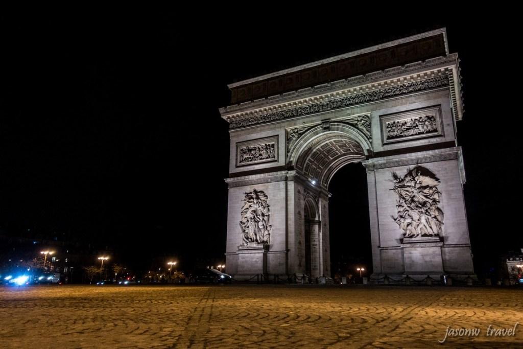 Arc de Triomphe 凱旋門夜景