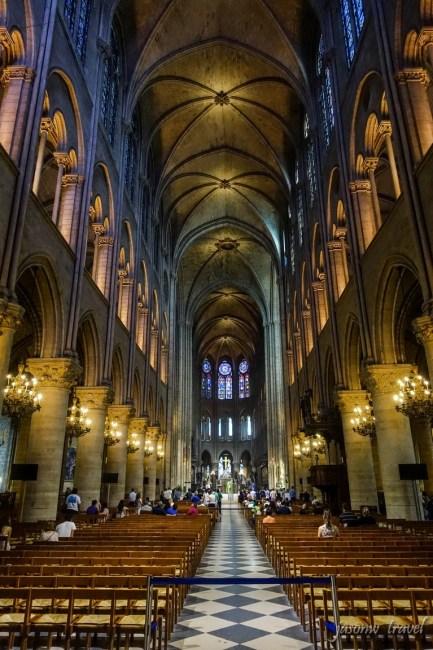Notre Dame de Paris Inside 巴黎聖母院內部