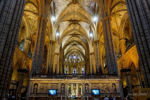 Catedral de Barcelona Inside 巴塞隆拿主教座堂內部