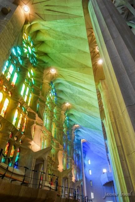 Sagrada Família Inside 聖家堂內部
