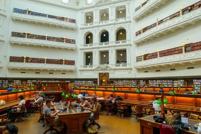墨爾本維多利亞州立圖書館瑞德蒙巴瑞閱覽室 La Trobe Reading Room, State Library Victoria, Melbourne