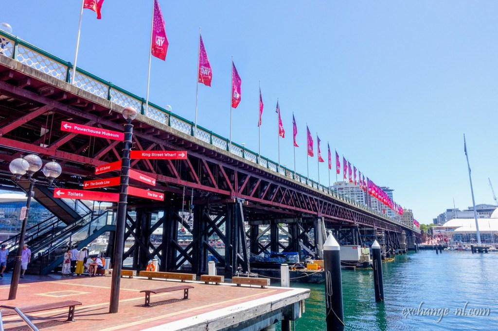 悉尼達令港(情人港)皮爾蒙特橋 Pyrmont Bridge, Darling Harbour, Sydney