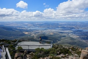 塔斯曼尼亞荷伯特威靈頓山室外觀景台 Outdoor Lookout on Mount Wellington, Hobart, Tasmania