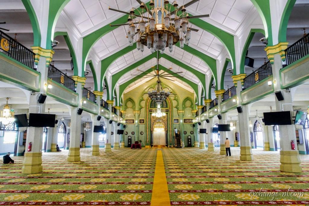 新加坡甘榜格南蘇丹清真寺內部 Inside of Masjid Sultan, Kampong Glam, Singapore