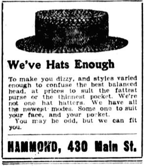 1903-06-10 Winnipeg Tribune - Hat Store Ad
