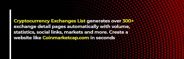 ExchangePress - Cryptocurrency Exchanges List - WordPress Plugin - 1