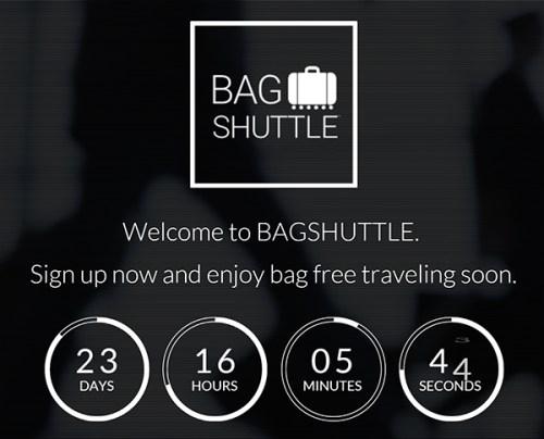 Bagshuttle Webseite Screenshot