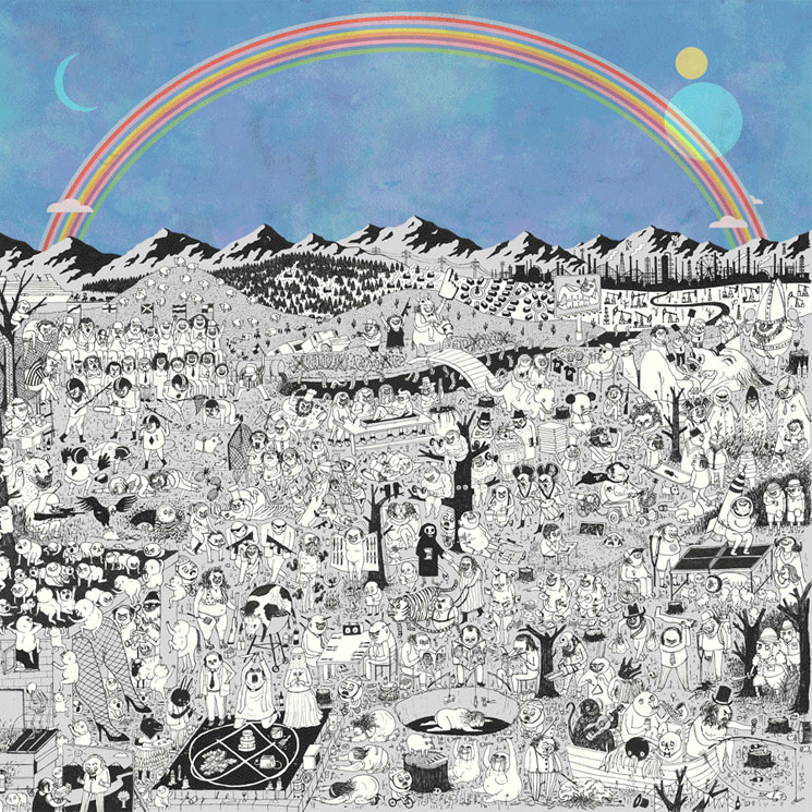 Afbeeldingsresultaat voor father john misty pure comedy rainbow cover