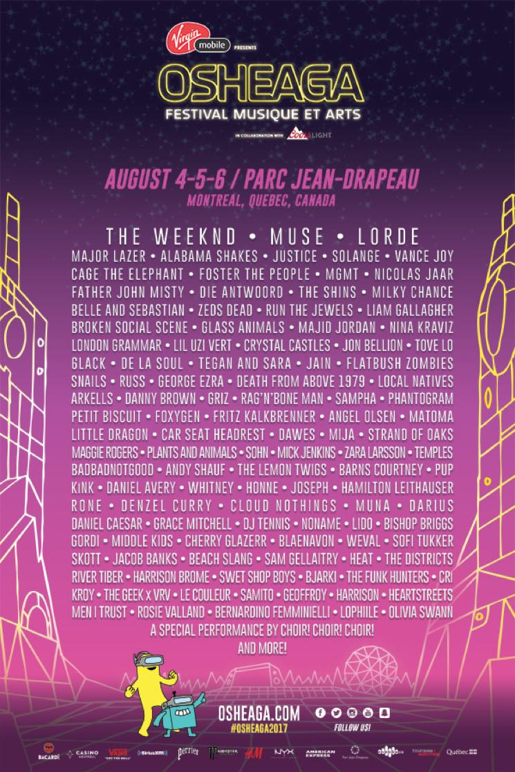 Osheaga Reveals 2017 Lineup with the Weeknd, Muse, Lorde