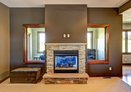 Fireplace with Windows
