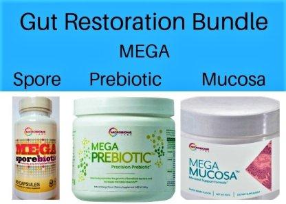 Gut restoration bundle, gut health supplements