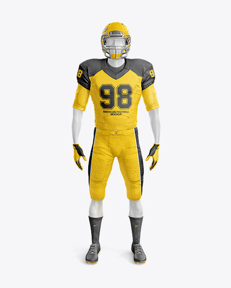 Download American Football Kit Mockup with Mannequin - Front View ...