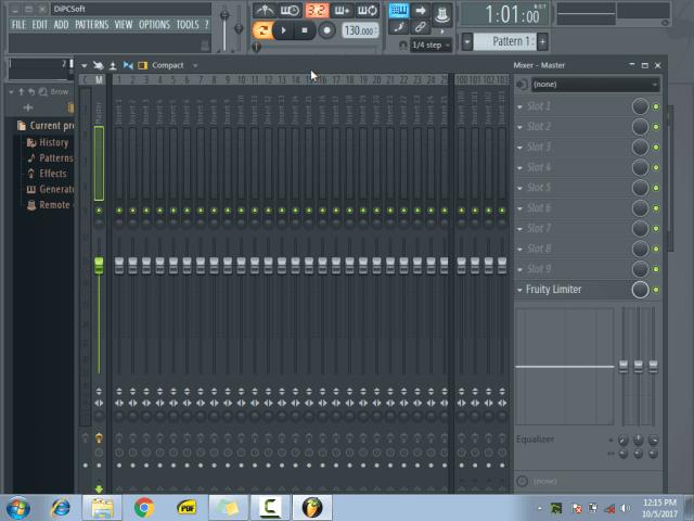 Using the mixer menu1