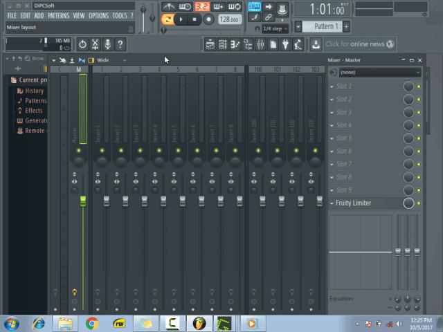 Using the mixer menu6
