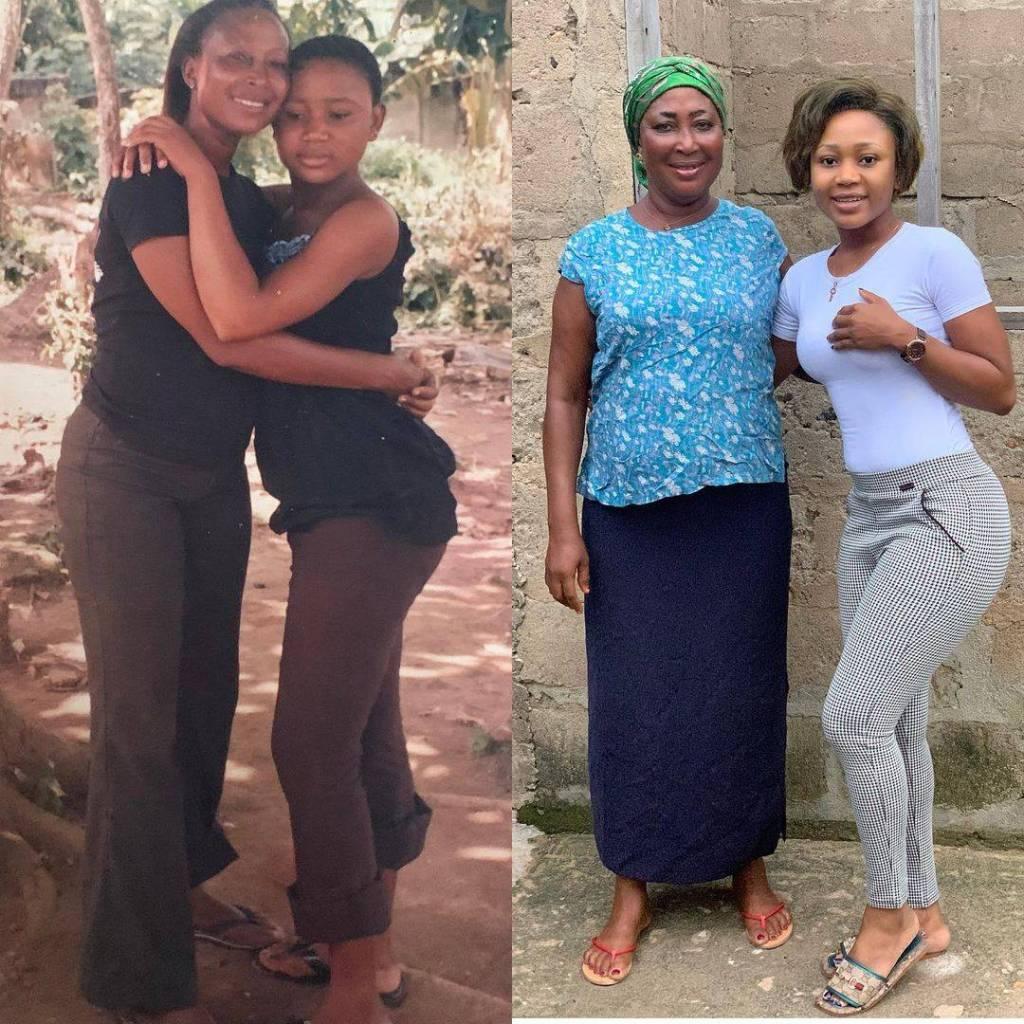 Akuapem Poloo and her Mom
