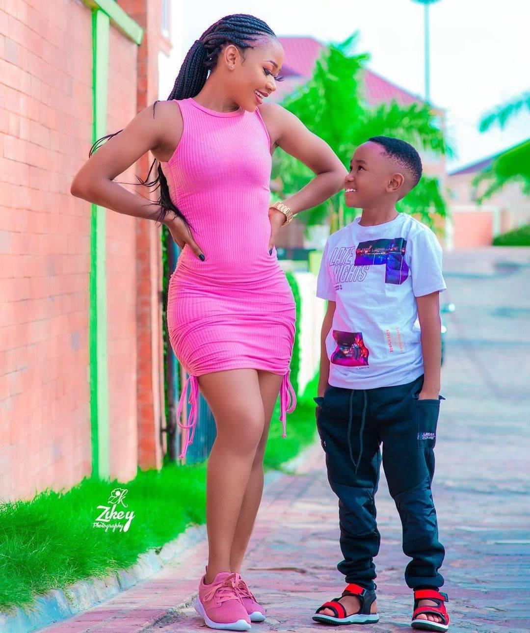 Rosemond Brown aka 'Akuapeem poloo' and son
