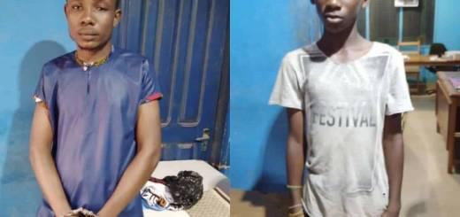 Suspect Adjei Benjamin, and nephew by name Listowell Adjei