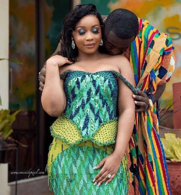 Actress Evelyn Addo with her husband