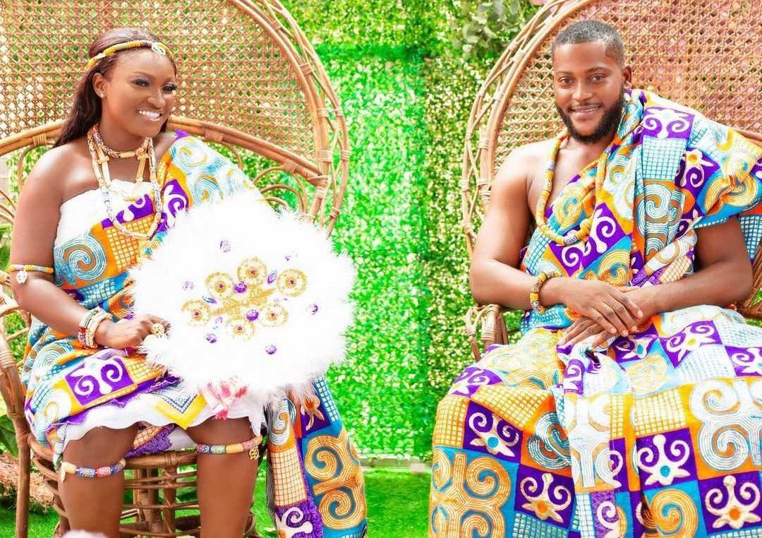 Abena Moet and her husband Nana Yaw aka. Jayessah