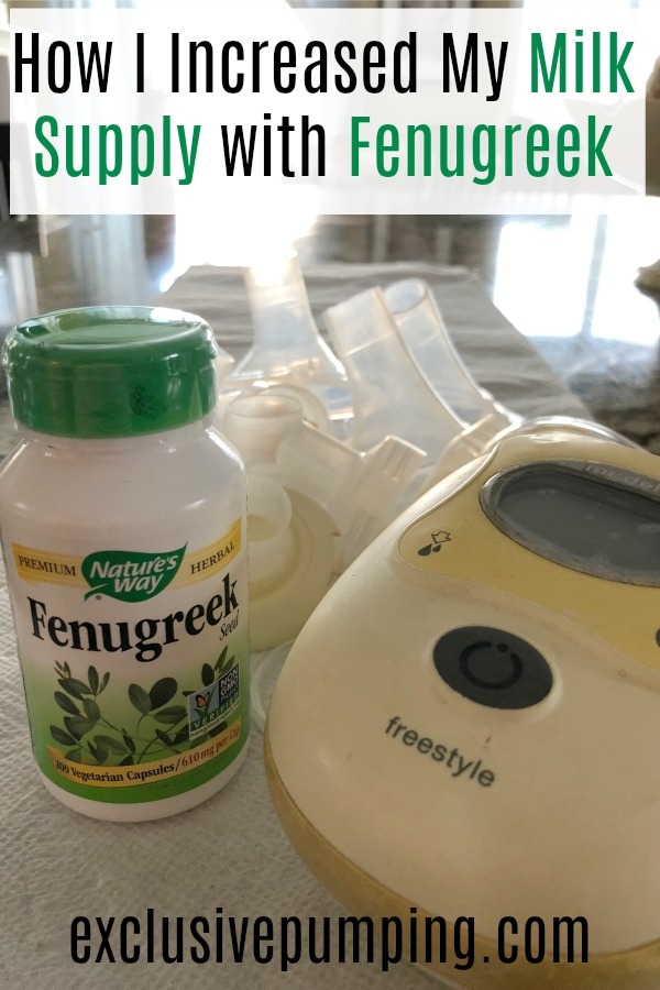 increasing milk supply with fenugreek