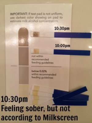 breast milk alcohol test strips