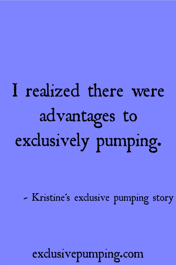 Kristine's Exclusive Pumping Story