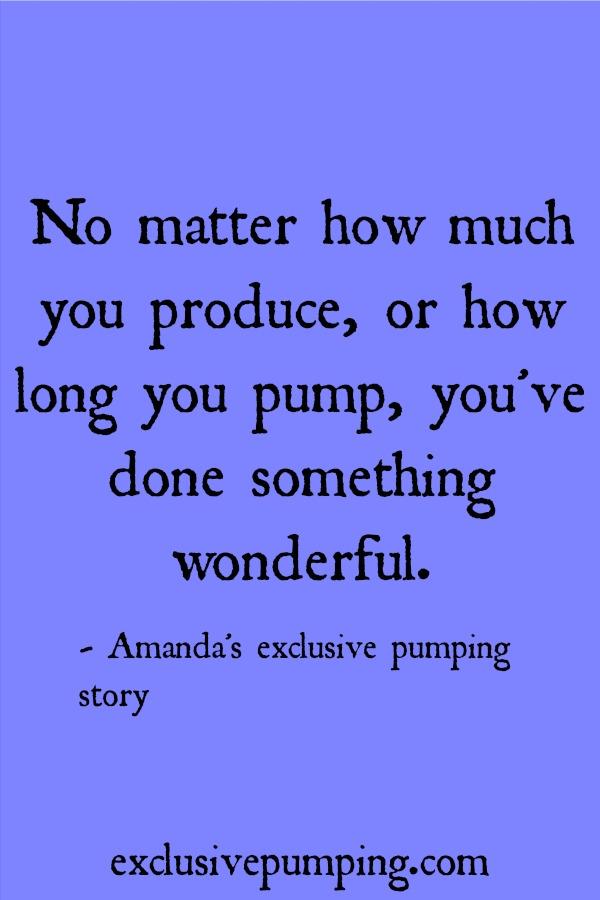 Amanda's exclusive pumping story