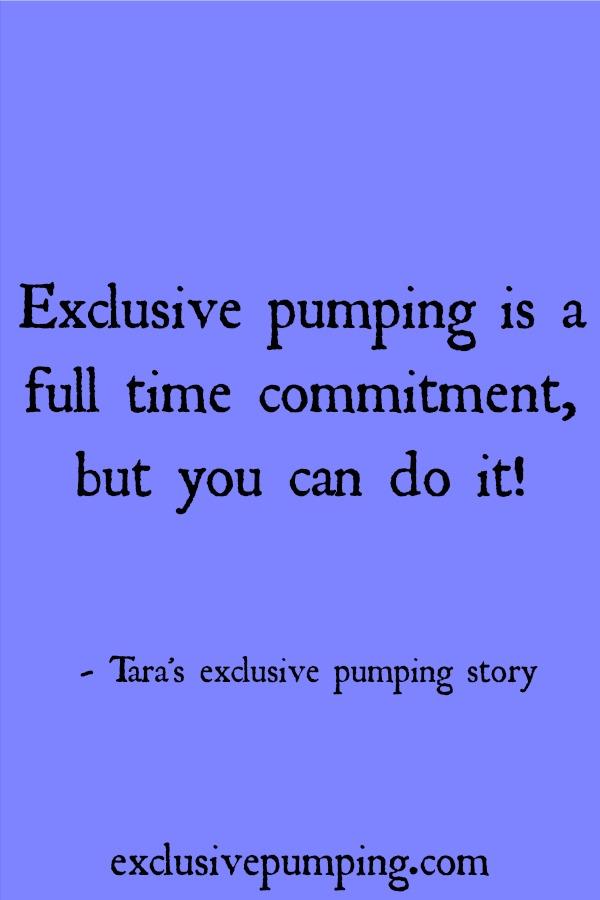 Tara's exclusive pumping story