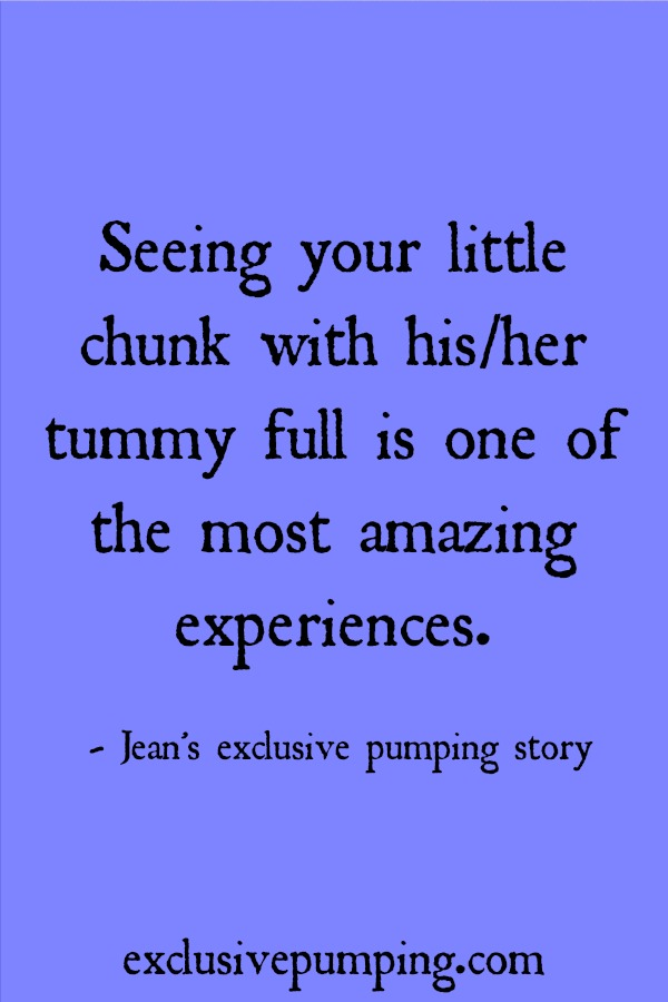 Jean's Exclusive Pumping Story